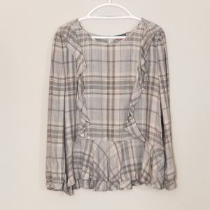 NWY Vince Camuto Pleated Ruffle Top Size XL